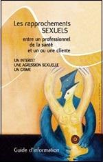 Guide sur les rapprochements sexuels entre professionnels de la santé et clients